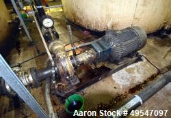 Used- Gorman Rupp Centrifugal Pump, Model RD3A31-BAR, Carbon Steel. Driven by a 40hp XP motor. Serial# 1331572N.