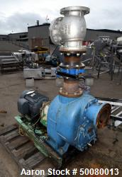 Used- Gorman-Rupp T Series Self-Priming Centrifugal Pump, Model T6A71S-B/F, Carbon Steel. Driven by a 15hp motor. Base mount...