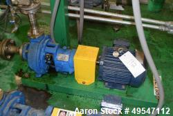 Used- Goulds 3196 Centrifugal Pump, Size 1.50X3, Carbon Steel. Driven by a 3hp motor. Serial# 743C880.