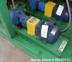 Used- Goulds 3196 Centrifugal Pump, Size 1.50X3-8, Carbon Steel. Driven by a 3hp motor. Serial# 788E639.