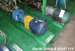 Used- Goulds 3196 Centrifugal Pump, Size 1.50X3-8, Carbon Steel. Driven by a 3hp motor. Serial# A748F338.