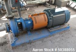 Used- Goulds Centrifugal Pump, Model 3196, Size 2X3-10, Carbon Steel. Rated approximately 250 gallons per minute at 306.5' h...
