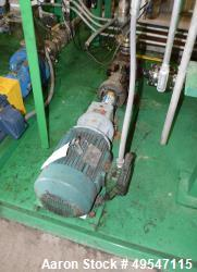 Used- Maag Gear Pump, Model G1-24-01008, Carbon Steel. Driven by a 3hp motor. Serial# 0021450772, built 2013.