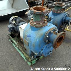Allonda Prime Series Self-Priming Centrifugal Pump, Model S-6, Carbon Steel. Driven by a 15hp motor...