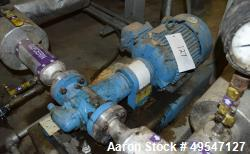 Used- Viking Gear Pump, Model HL4197, Carbon Steel. Driven by a 3hp motor. Serial# 11532247.