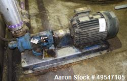 Used- Viking Gear Pump, Model KK124A, Carbon Steel. Driven by a 10hp motor. Serial# 850L750091.