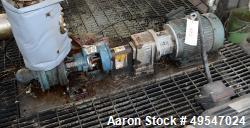 Used- Viking Gear Pump, Model KK4124A, Carbon Steel. Driven by a motor. Serial# 8485/50263.