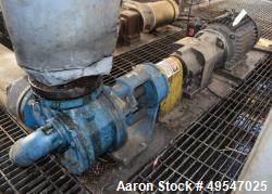 Used- Viking Gear Pump, Model LL4124B, Carbon Steel. Driven by a 7.5hp motor. Serial# 8589960036.