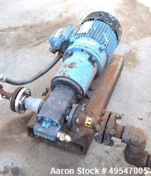 Used- Viking Gear Pump, Model RP-80732-MOV, Carbon Steel. Driven by an XP motor. Serial# V701368.
