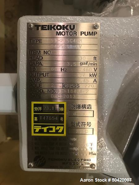 Unused- Teikoku Pump, Model F61-215C4DM-0405SS1-AV