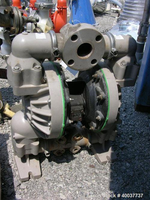 "Used- ARO Diaphragm Pump, poly construction, 2""."