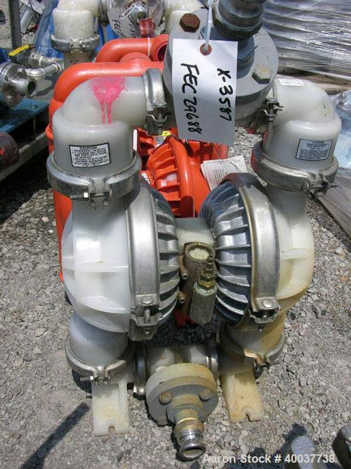 """Used- Wilden Diaphragm Pump, poly construction, 2""""."""