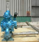 Used- Sandpiper Diaphragm Pump, Model EB 1 1/2-SM, Type TGN-1-S, 316 Stainless Steel. 65 gallons per minute max capacity, ma...