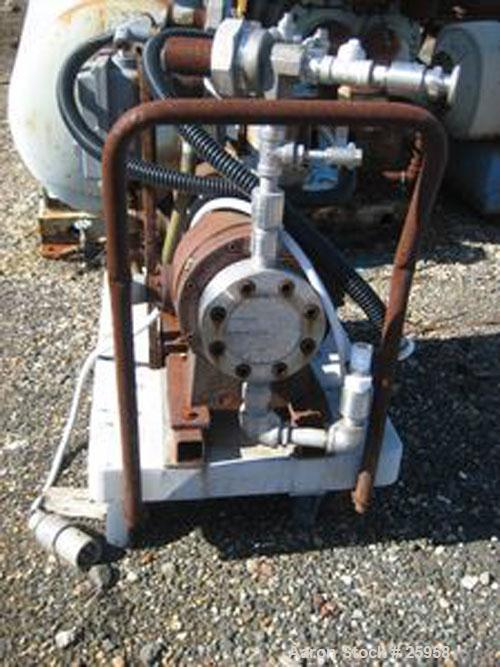 Used- Yarway Cyclopharm Dual Diaphragm Pump, Model 0725111481. 2.25 gpm @ 150 psi. Capacity 67 liters per hour each side. Ca...