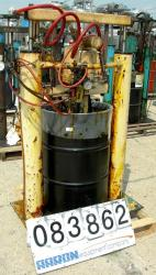 "USED: Johnstone air operated 55 gallon drum unloading pump, model JPC 1001, size S1-8-HDE. 8"" air motor, ratio 42:1, 20 psi ..."