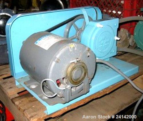 Used- Little Giant Peristalic Pump, Model LG30L. 1/3 hp belt driven. Base mounted.