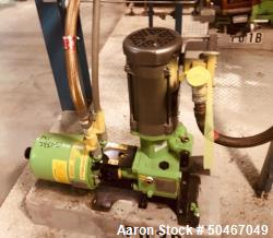 Used-PulsaFeeder diaphragm metering pump, Model 680-S-AE, nominally rated 2.95 gph at 330 psi, with .5 hp, 230/460 volt XP m...