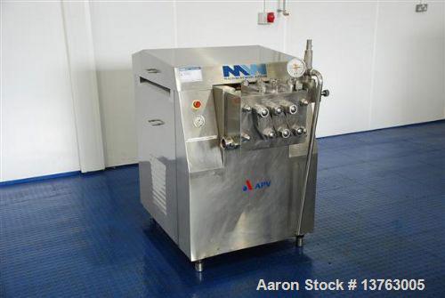 Used-APV Gaulin MCP7 High Pressure Pump, capacity 1453 gallons/hour (5500 liters/hour). Maximum working pressure 725 psi (50...