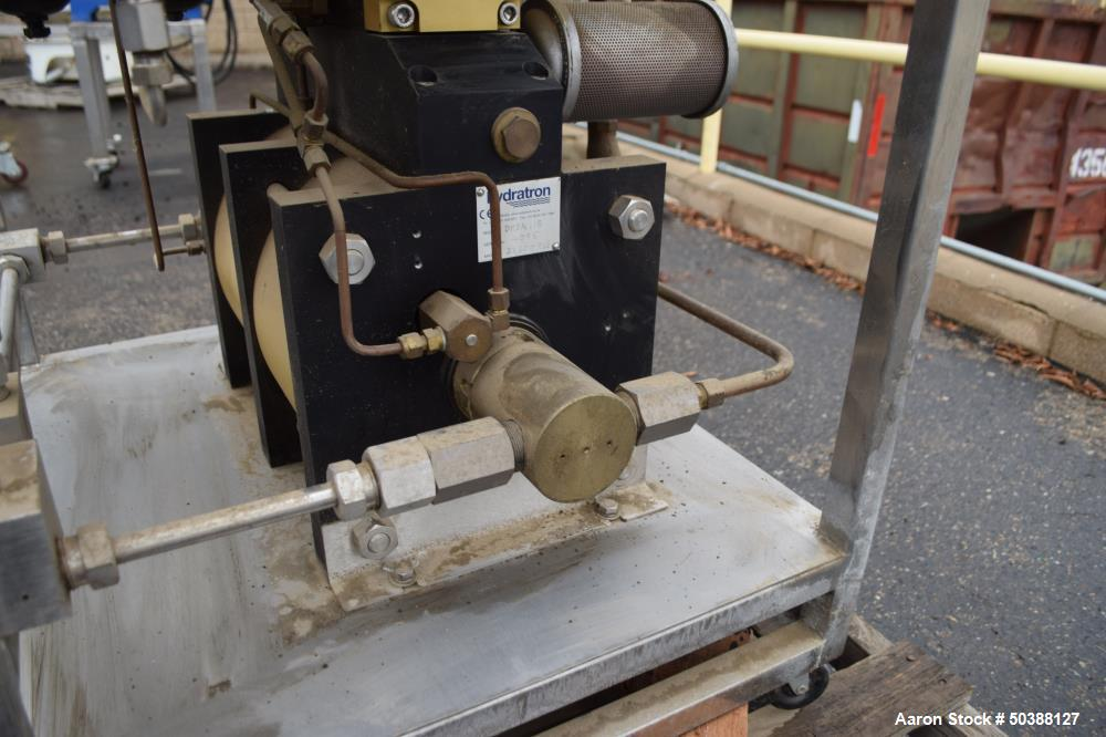 Used- Hydratron Double Airhead Double Acting Series Air Driven Liquid Pump