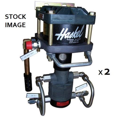 Used-Lot of (2) Haskel EXT420 Butane/Propane Extraction High Pressure Positive D