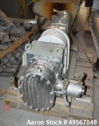Used- Fristam Rotary Positive Displacement Pump, model FKL205, Stainless Steel. Approximate capacity 270 gallons per minute,...