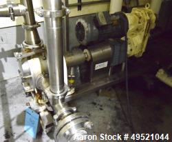 Used- Sine Sanitary Rotary Positive Displacement Pump, Model MR-150, Stainless Steel. Single rotor, approximately 282 gallon...