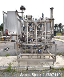Used- Waukesha Positive Displacement Pump, Model 130/U2, Stainless Steel. Approximate displacement 0.254 gallons per revolut...