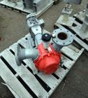 Used- Vogelsang Universal Rotary Lobe Pump, Carbon Steel. Approximate 340 gallons per minute. Driven by a 5hp, 3/60/230/460 ...