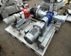 Used- Vogelsang Dual Universal Rotary Lobe Pump System, Carbon Steel. Consisting of : (1) Vogelsang IQ112 Universal Rotary L...