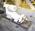 Used- Waukesha Positive Displacement Pump, Model 130, Stainless Steel. Approximate capacity 175 gallons per minute, 0.253 ga...