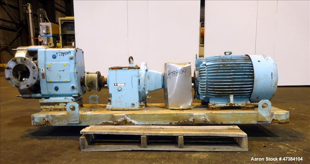 Used- Waukesha Rotary Positive Displacement Pump,