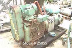 Used- Waukesha Positive Displacement Pump, Model 323, Stainless Steel. Maximum nominal capacity 360 gallons per minute, 0.61...