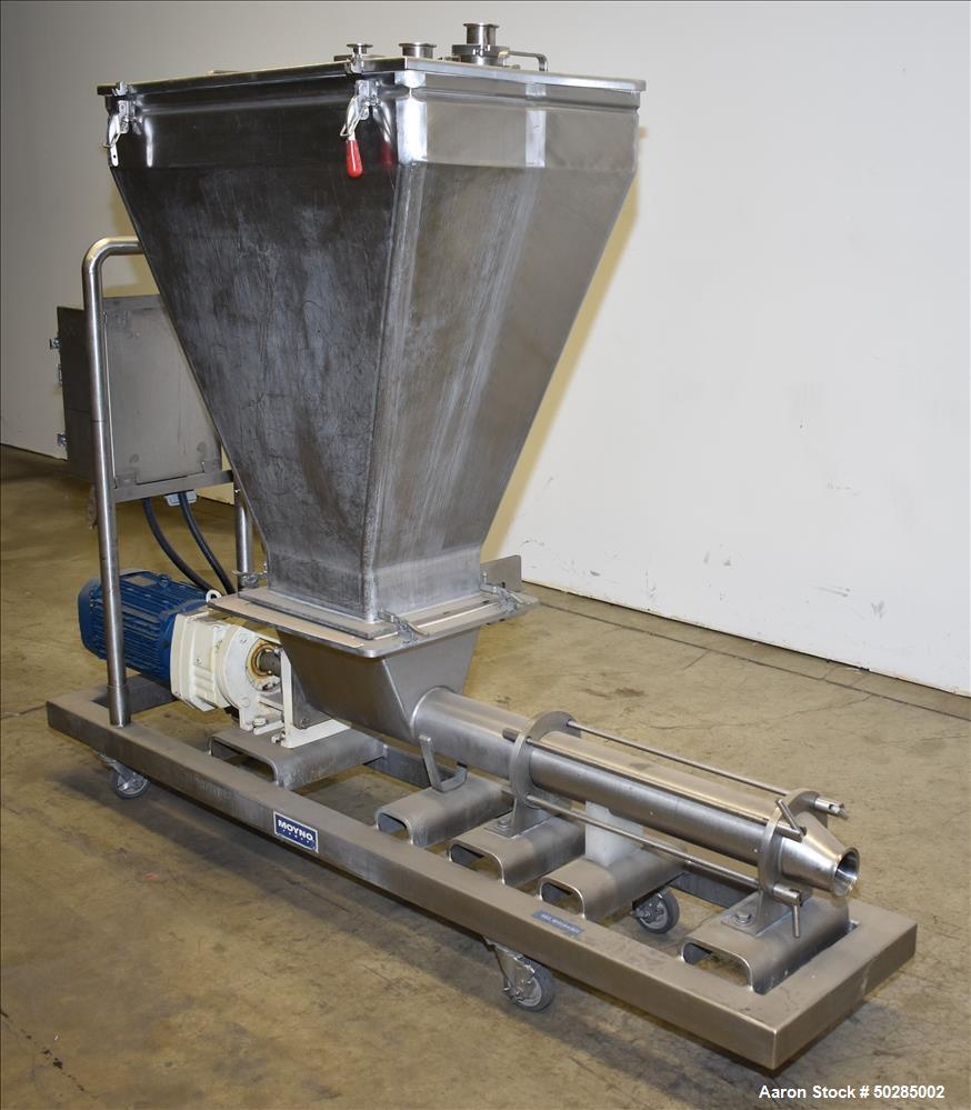 Used-Moyno Systems Stainless Steel Pump with Loading Bin.