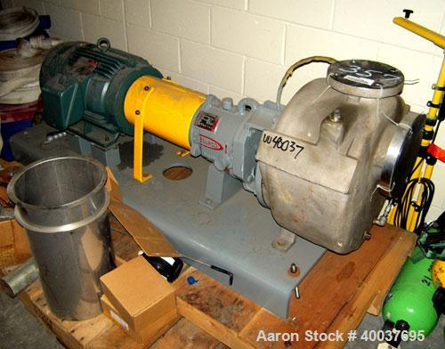 Used- Durco Centrifugal Pump, Model 2X4X3U510W/97RV, 316 Stainless steel. 250 gallons per minute at 92' head at 1800 rpm. Dr...