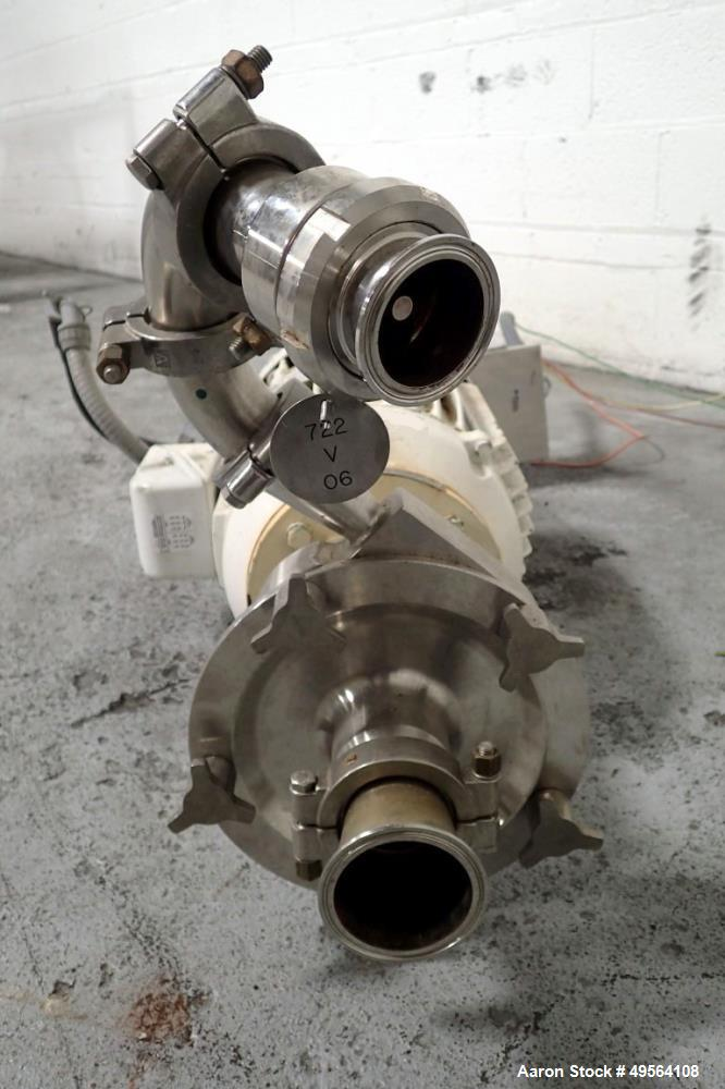 "Used- Fristam Centrifugal Pump, Model 742-180, 2.5"" x 2"", Stainless Steel Construction. Direct coupled 15 hp, 230/460 volt, ..."