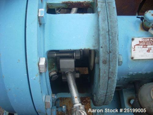"Used- Goulds Centrifugal Pump, Model 3196, Size 1X2X10, 316 Stainless Steel. 2"" Inlet, 1"" outlet, approximate 10"" diameter i..."