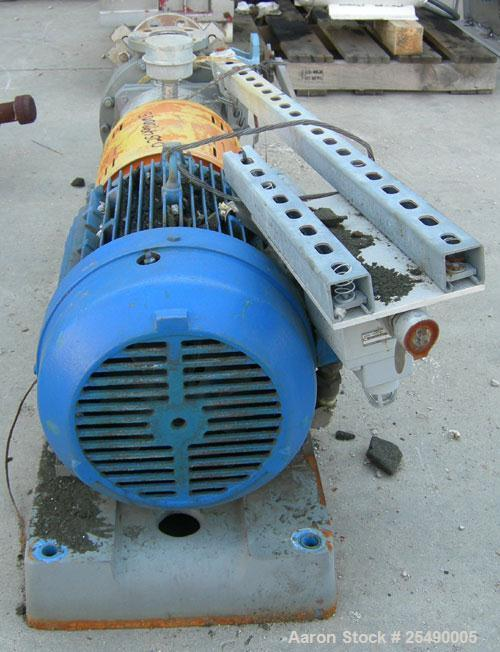 """Used- Goulds Centrifugal Pump, model 3296, S Group, size 1.5x3-8, 316 stainless steel.3"""" inlet, 1-1/2"""" outlet, approximatel..."""