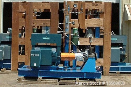 """Used-UNUSED: Goulds Centrifugal Model 3700, GRP """"L"""", 316SS/316L, 3 x 4 x 16. 535 gpm, 706 ft head. Crane seals. Powered by S..."""