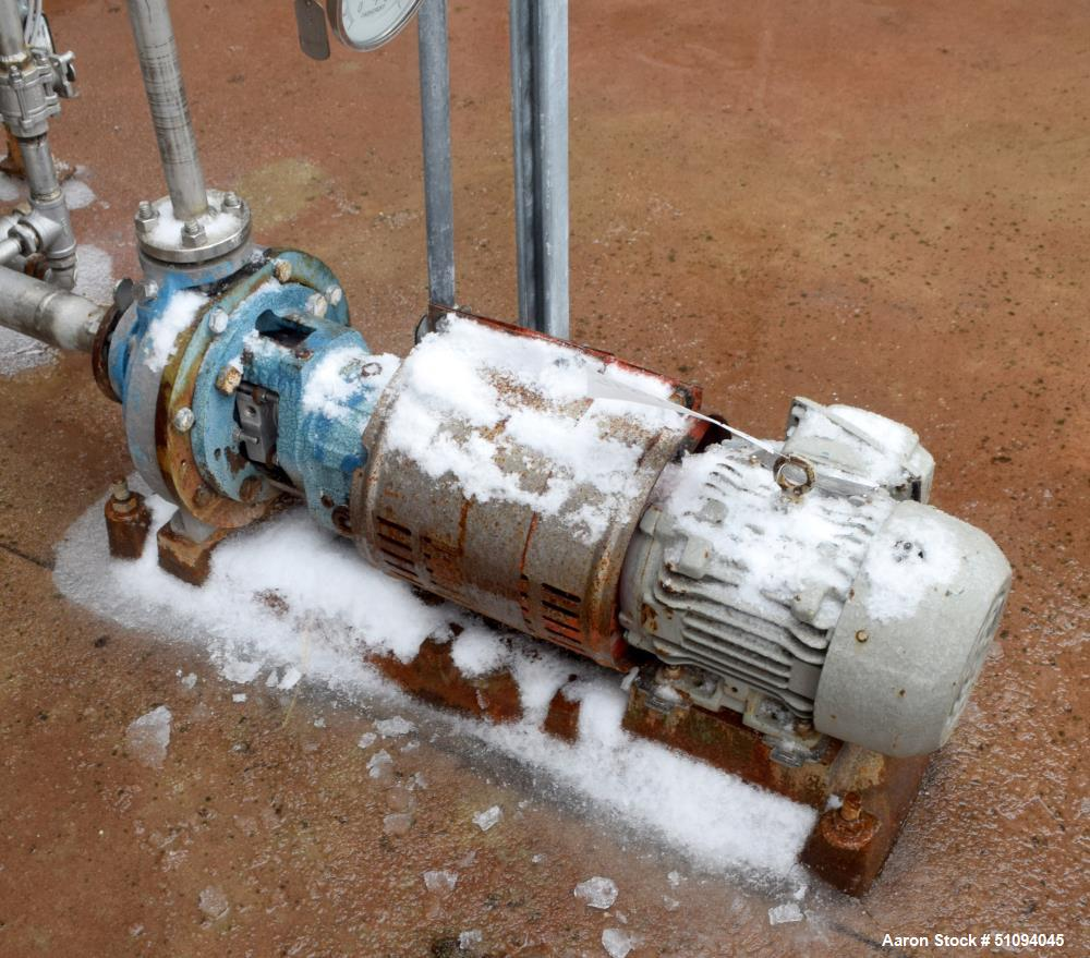 Used- Goulds Centrifugal Pump, Model STXLF, Size 1X1.5LFX8, 316 Stainless Steel. Driven by a 2hp, 3/60/208-230/460 volt, 174...