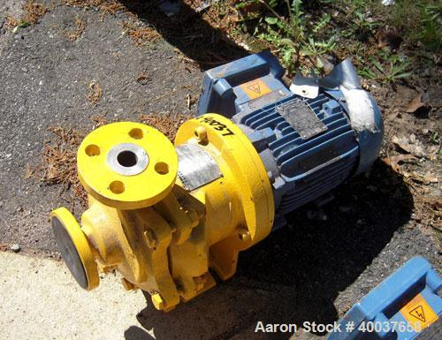 Used- Kontro Centrifugal Pump, Model GTA1X1X5, 316 Stainless steel. Rated 25 gallons per minute at 31' head at -40 to 400 de...