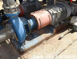 "Used- Summit Centrifugal Pump, Model 2196MTO, Size 4X6-13, Stainless Steel. Rated 150 psi. 6"" Inlet, 4"" outlet. Driven by a ..."