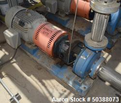 """Used- Summit Centrifugal Pump, Model 2196MTO, Size 4X6-10, Stainless Steel. Rated 150 psi. 6"""" Inlet, 4"""" outlet. Driven by a ..."""