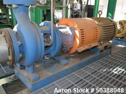 Used- Goulds Centrifugal Pump, Model 3196, Size 3X4-8G, 316 Stainless Steel. Rated approximately 63 gallons per minute at 73...
