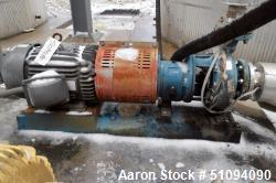Used- Goulds Centrifugal Pump, Model MTX, Size 3X4X10, 316 Stainless Steel. Driven by a 15hp, 3/60/230/460 volt, 1765 rpm XP...