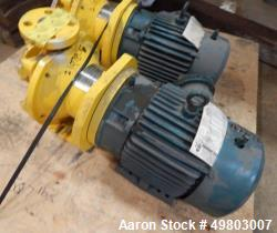 Used- HMD Kontro Centrifugal Pump, Model GTA, Size 1X1X5, 316 Stainless Steel. Rated 200 gallons per minute at 60' head at 3...