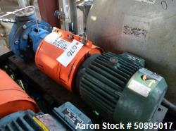 Used-Summit Centrifugal Pump, Model 2196STD, Size 1x1.5-8LF, 316 Stainless Steel. Rated 5 gallons per minute at 150' TDH. Ap...