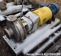 Used-Sulzer CPT Chemical Centrifugal Pump, Model CPT22-1-LF, Stainless Steel. Rated 19 gallons per minute at 120 head at 177...