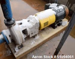 Used- Sulzer CPT Chemical Centrifugal Pump, Model CPT22-1B, Stainless Steel. Rated 150 gallons per minute at 70 head at 1770...