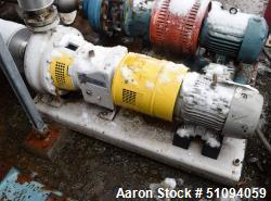 Used- Sulzer CPT Chemical Centrifugal Pump, Model CPT22-2, Stainless Steel. Rated 150 gallons per minute at 50 head at 1770 ...