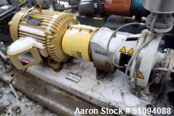Used- Sulzer CPT Chemical Centrifugal Pump, Model CPT23-1B, Stainless Steel. Rated 100 gallons per minute at 70 head at 1770...